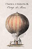 Charles Robert first hydrogen balloon