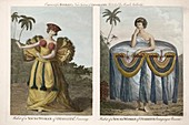 1790 Tahitian Women from Banks Voyages