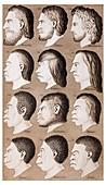 1870 Haeckel Racist human illustration