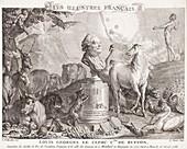 1788 Death Notice monument of Buffon