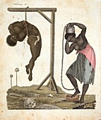 1810 Punishment of Slaves engraving