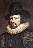 1618 Sir Francis Bacon Scientist Portrait