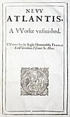 1627 Francis Bacon New Atlantis Frontis