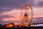 A ferris wheel on the South Pier