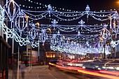 Blackpool promenade illuminated