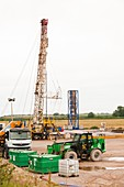 A test drilling site for shale gas