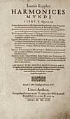 'Harmonices Mundi' (1619)