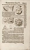 Kepler on Platonic solids,1619