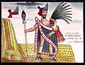 Aztec emperor Moctezuma II,16th century