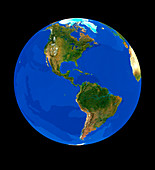 The Earth centred on America