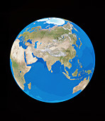 Satellite image of the Earth,centred on Asia