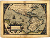 Ortelius's map of The New World,1570