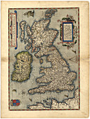 Ortelius's map of the British Isles,1570