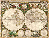 Map of the world,1660