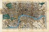 Map of London,1860