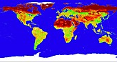 Map of Earth's surface reflection