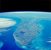 Florida peninsula seen from Space Shuttle