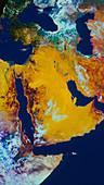 Satellite image of Arabian Peninsula
