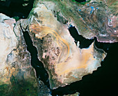 Satellite image of the Arabian Peninsula