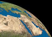 Arabian peninsula and Egypt