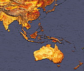 Australasia and south-eastern Asia