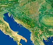 Adriatic Sea and the Balkans