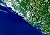 Southern Croatia,satellite image