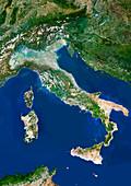 Italy,satellite image