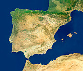 Spain,satellite image