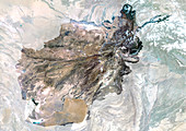 Afghanistan,satellite image
