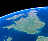 British Isles from space