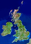 British Isles,satellite image