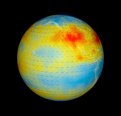 Carbon dioxide levels,east Pacific,2003