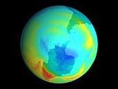 Antarctic ozone hole,September 1979