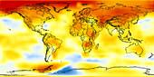 Global temperature anomalies 2002-2006