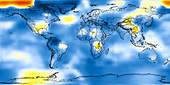 Global temperature anomalies 1906-1910
