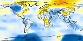 Global temperature anomalies 1946-1950