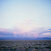 View of distant rainfall over Death Valley,USA