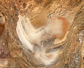 Sand storm over Afghanistan