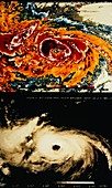 NOAA Satellite image of hurricane Alicia
