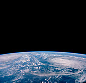 Typhoons Odessa and Pat,seen from Shuttle 51-I