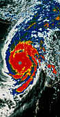 Infrared NOAA image of 1991 typhoon,Bangladesh