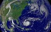 Hurricane Jeanne with other storms