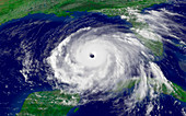 Hurricane Rita,satellite image