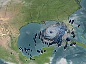 Hurricane Rita,rainfall data