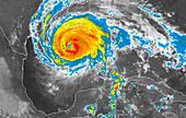 Hurricane Rita,infrared image