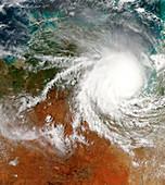 Tropical cyclone Harvey,satellite image
