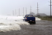 Motorist trapped by Hurricane Isabel