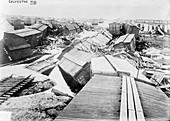 Hurricane damage,Galveston,USA,1900