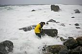 Sea storm during Hurricane Noel